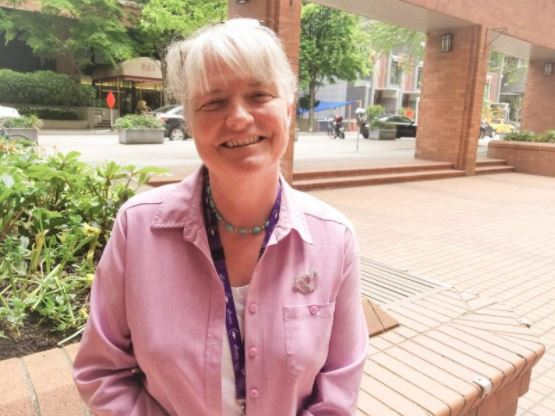 Spiritual Health Leader Bernadette Howell still smiling upon reflection of that exceptional day.